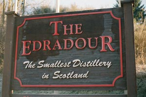 Edradour Distillery Sign